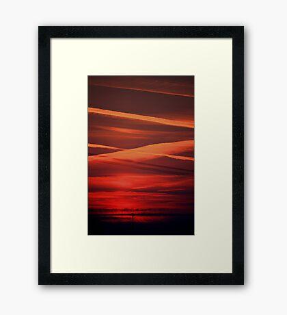 Sunset at Pisa Framed Print