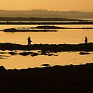 Anglers At Sunset by Jonny Andrews