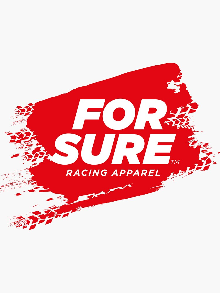 FOR SURE LOGO Sticker (RED) by ForSure