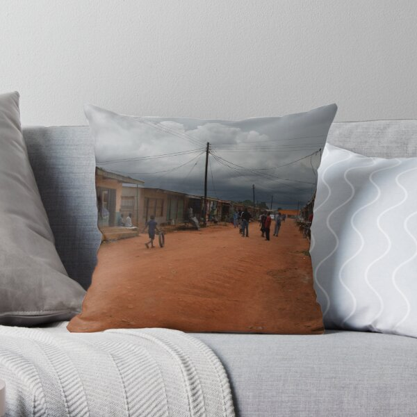 Looming Storm Throw Pillow