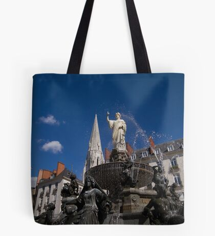 Fountain on Place Royale Tote Bag
