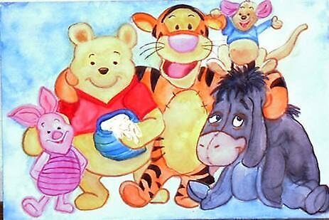 Winnie Pooh and friends by Heidi Mooney-Hill