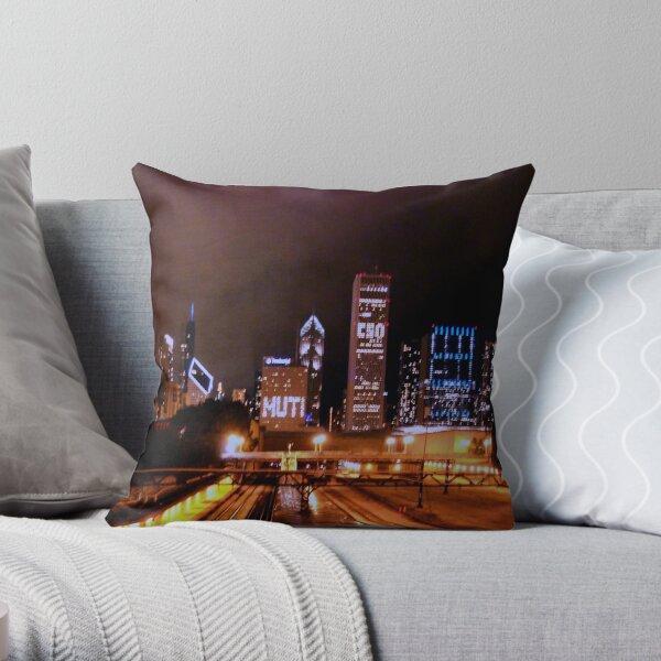 Festa Muti No. 2 -- The City at Night Throw Pillow