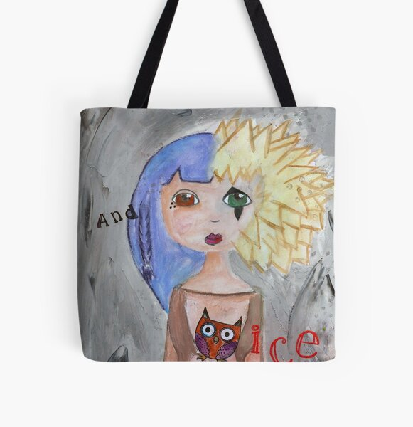 Fire and Ice All Over Print Tote Bag