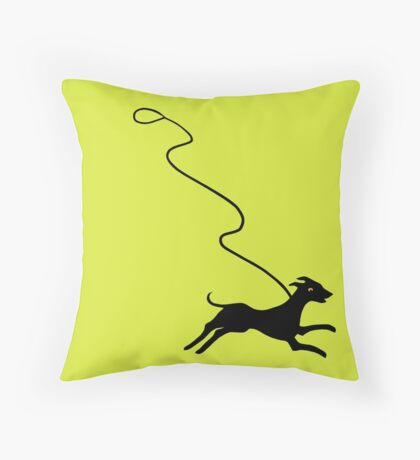 Off Leash Throw Pillow