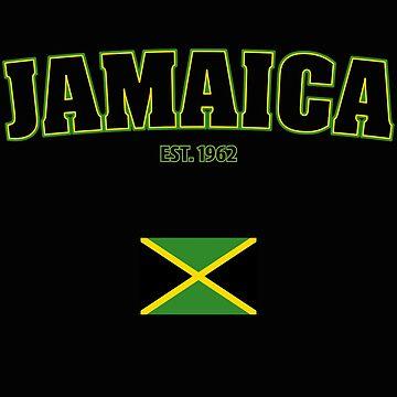 Jamaica Urlaub EST. 1962 Flagge T-Shirt von leroygomez
