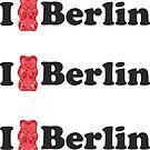 Ich liebe Berlin und Gummibärchen von XOOXOO
