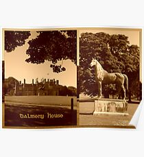 Dalmeny House & King Tom Poster