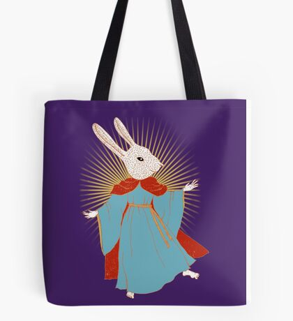Saint Bunny has your back Tote Bag