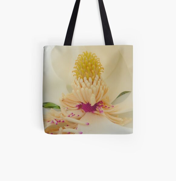 Magnolia grandiflora All Over Print Tote Bag