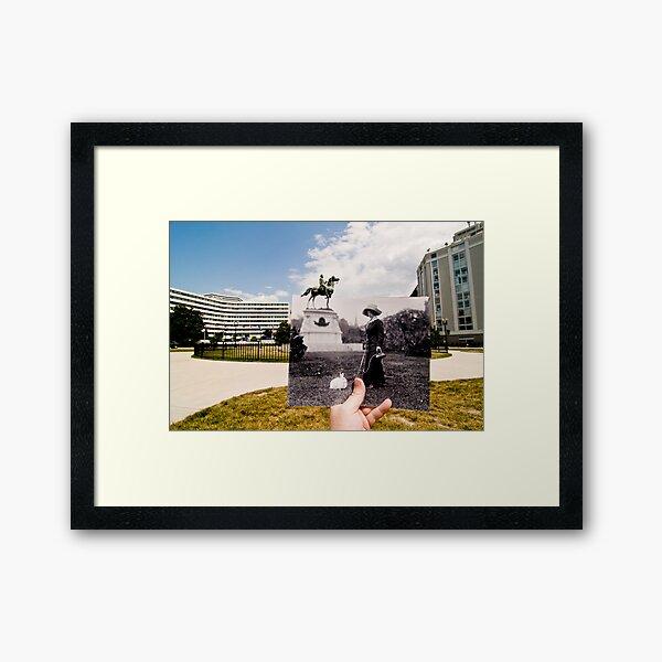 Looking Into the Past: Thomas Circle, Washington, DC Framed Art Print