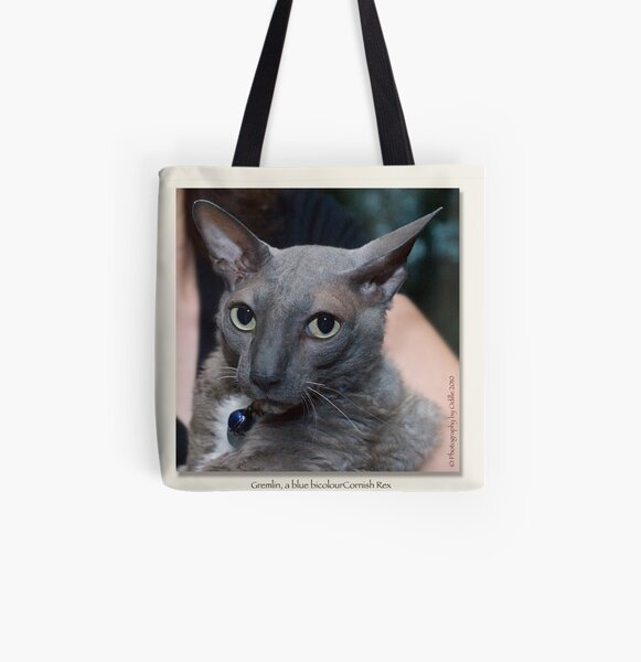 cat calendar image #4 Gremlin, by name and nature  All Over Print Tote Bag