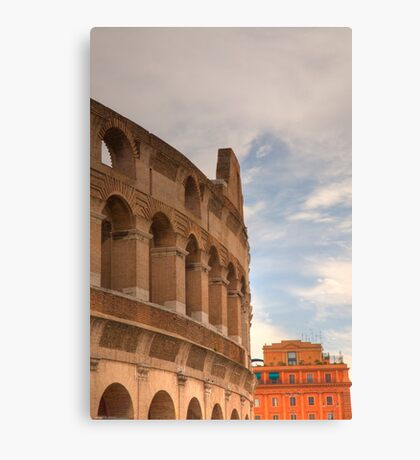 Colosseum in the historic Centre of Rome, Italy Canvas Print