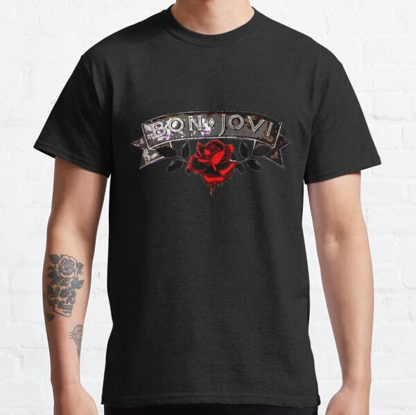 Red Rose & Bon Jovi Classic T-Shirt