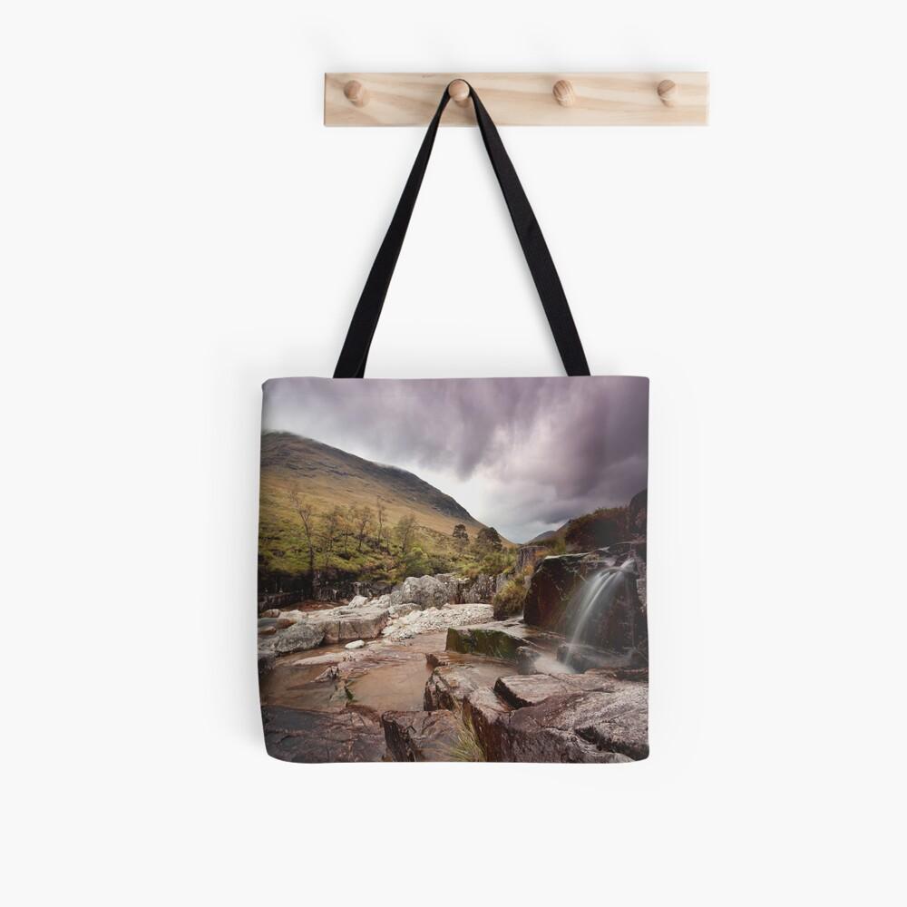 Glen Etive waterfall Tote Bag