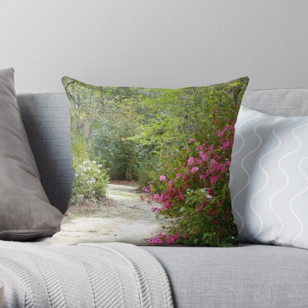 Hiking Trail in Cyprus Gardens, SC Throw Pillow