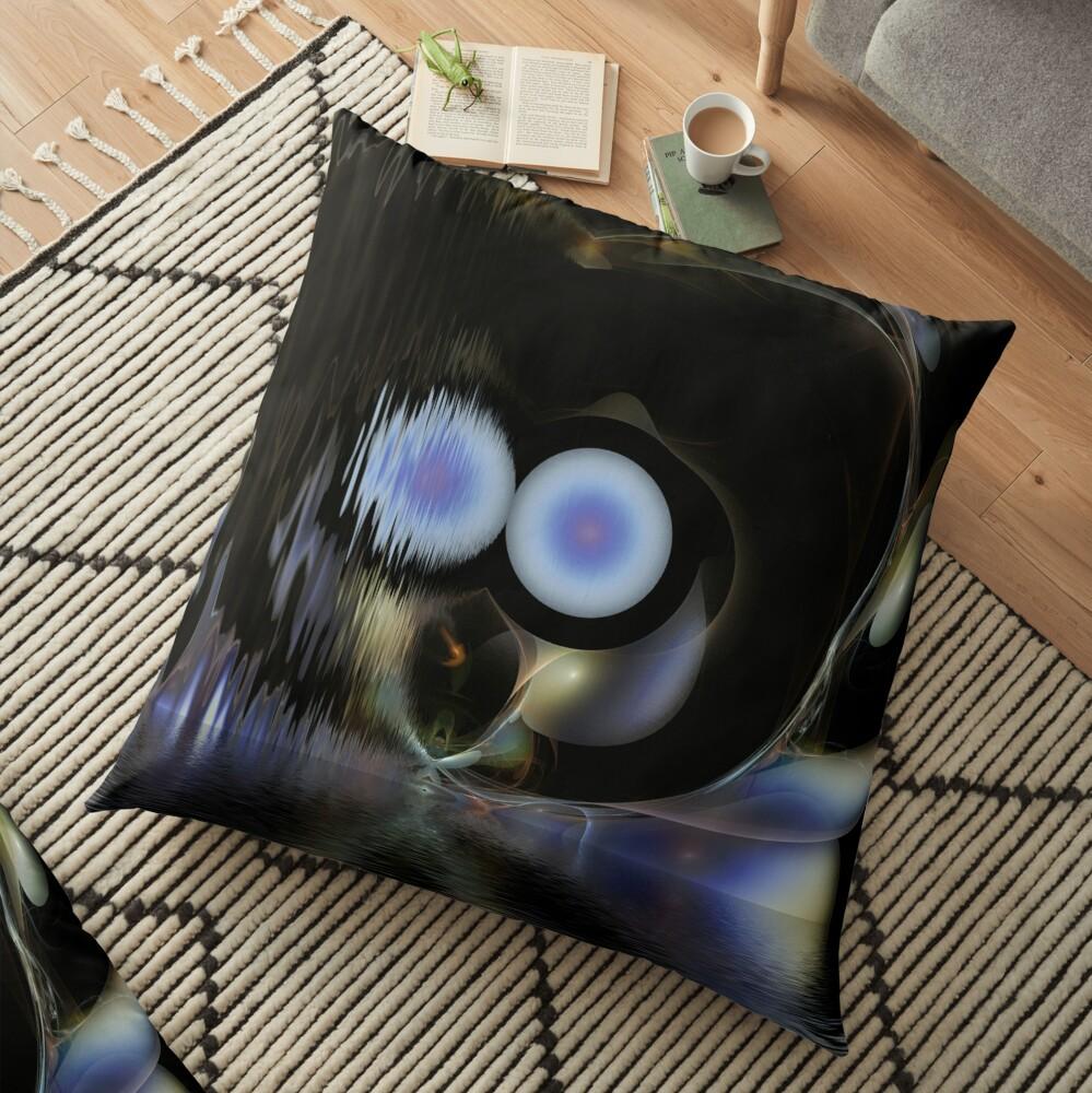 Fishin' In The Dark Floor Pillow