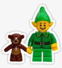LEGO Elf with Teddy Bear Sticker