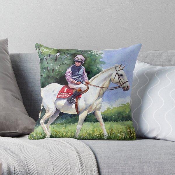 Desert Orchid Throw Pillow