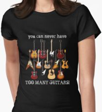 Too Many Guitars! Women's Fitted T-Shirt