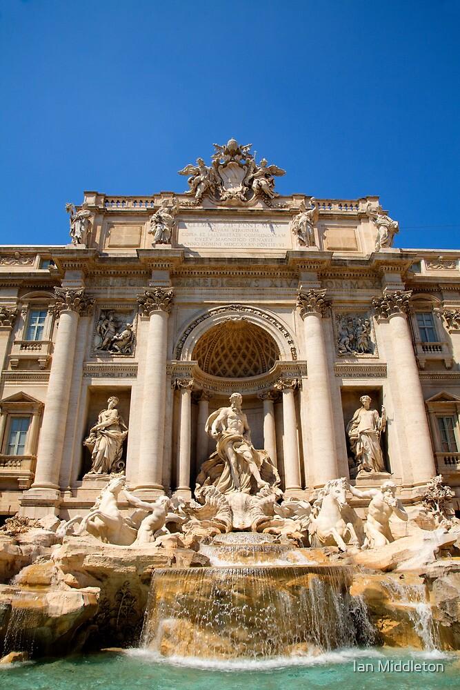 Fontana di Trevi, Rome, Italy. by Ian Middleton