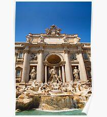 Fontana di Trevi, Rome, Italy. Poster