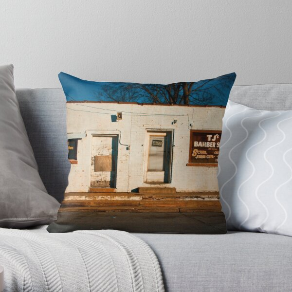 """Glamor Rama"" - West Memphis, Arkansas Throw Pillow"