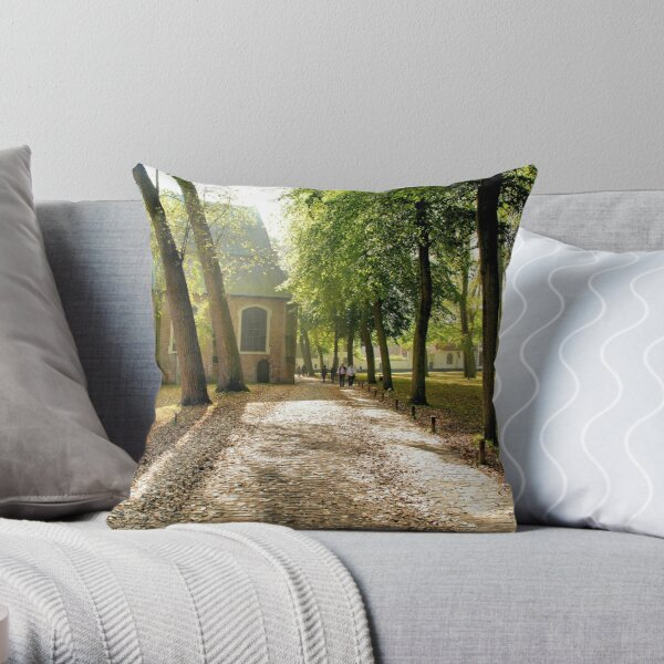 Beguinage Throw Pillow