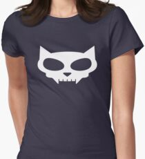 Cat Skull Women's Fitted T-Shirt