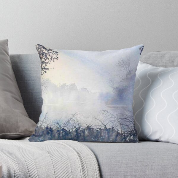 Cold and Frosty Mooring Throw Pillow