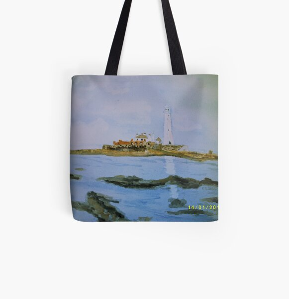 St Mary's Island All Over Print Tote Bag