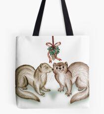 A Ferrety Kiss - Christmas Cards Tote Bag