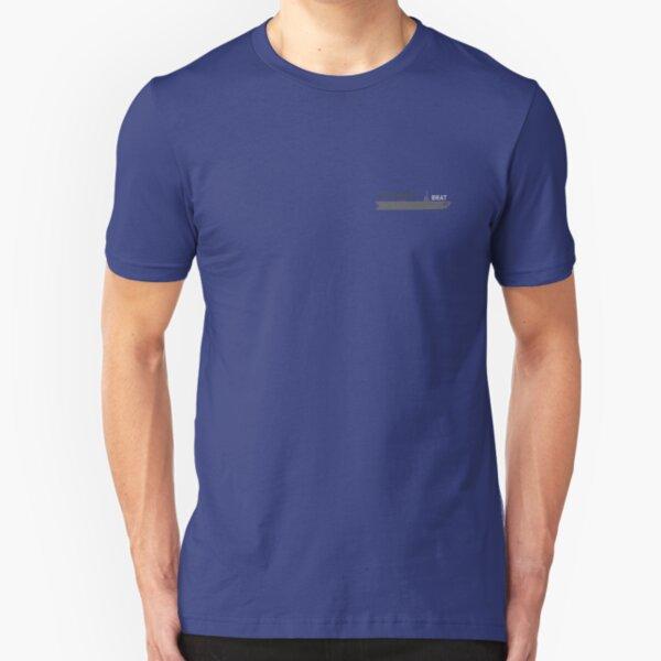 U.S. Navy Brat - Carrier in Gray Slim Fit T-Shirt