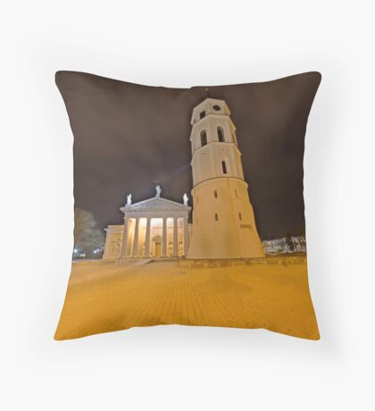 Cathedral of Vilnius Throw Pillow