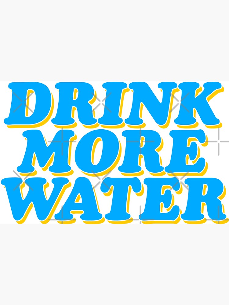 drink more water baby by lolosenese