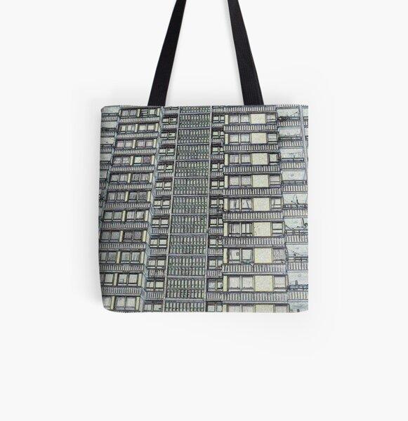 Hanover, Broomhall flats ,Sheffield 3 All Over Print Tote Bag