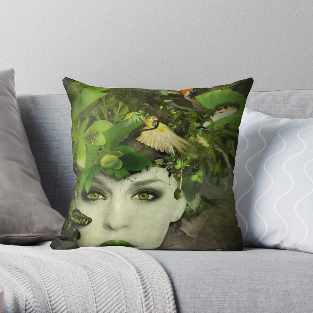 It's A Jungle In There! Throw Pillow