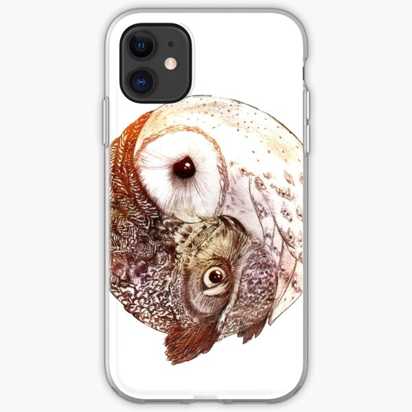 Yin Yang Owl iPhone Soft Case