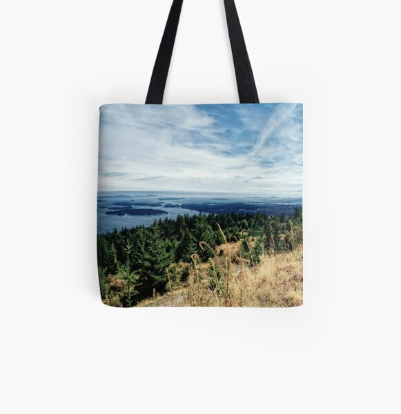 Gulf Island View All Over Print Tote Bag