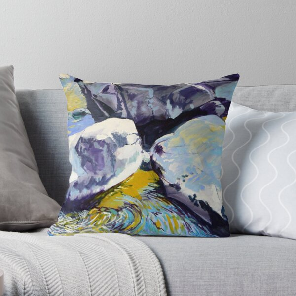 Rocks and Ripples Throw Pillow