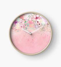 Botanical Fragrances in Blush Cloud-Ιmmersed Clock