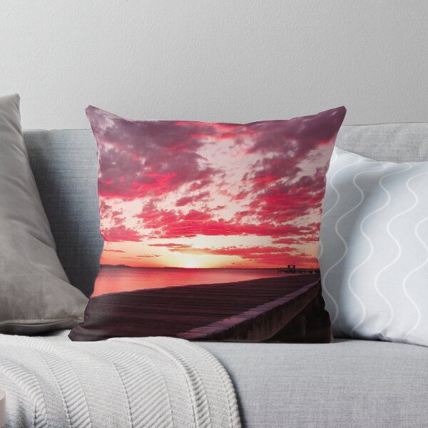 Soldiers Point Sunset Throw Pillow