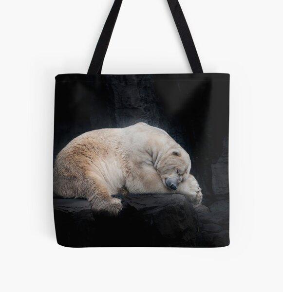 Sleeping Polar Bear All Over Print Tote Bag