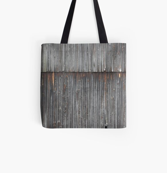 Weathered Barn Side All Over Print Tote Bag