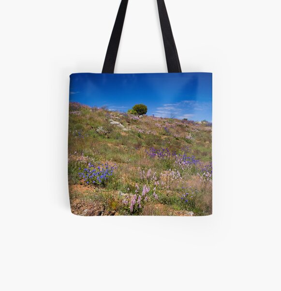 Hill of Flowers All Over Print Tote Bag