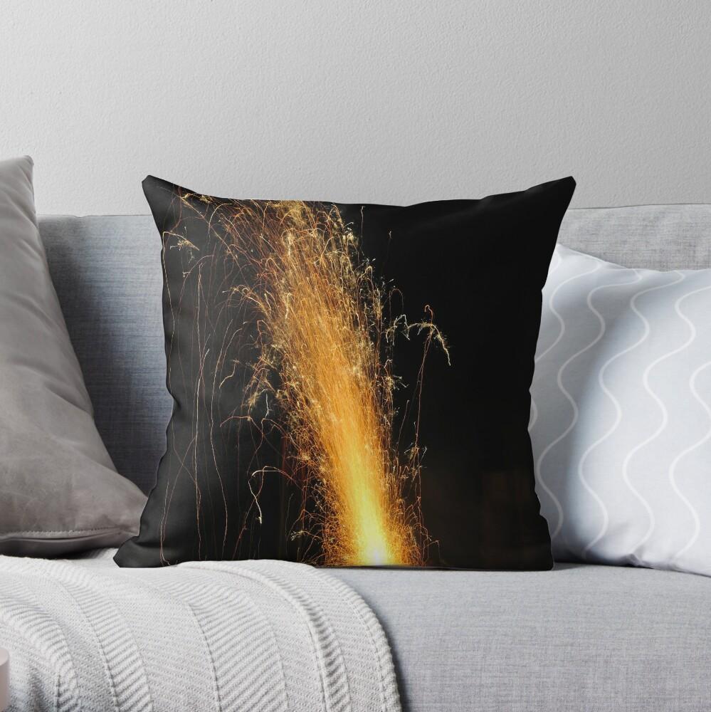 Garden Volcano Throw Pillow