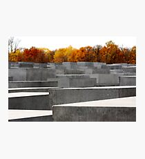 Jewish Sadness, Berlin Holocaust Memorial Photographic Print