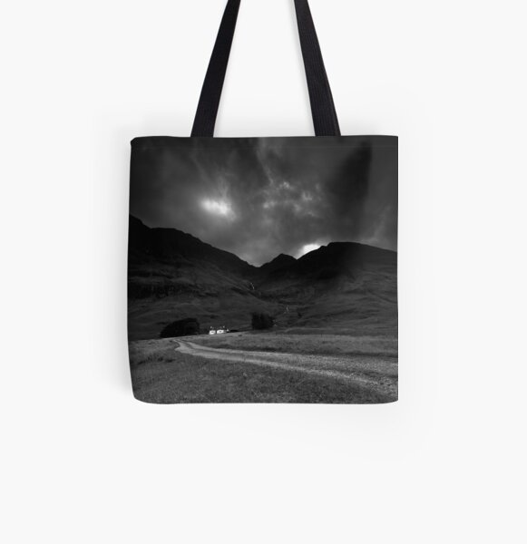 Twin cottages All Over Print Tote Bag