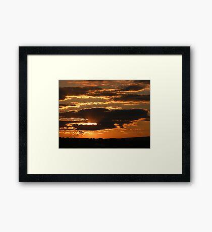 Sunsetting............. Framed Print