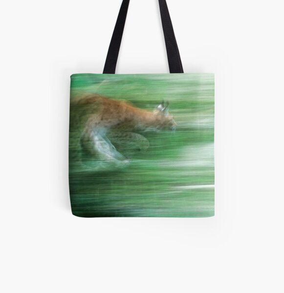 Running lynx All Over Print Tote Bag